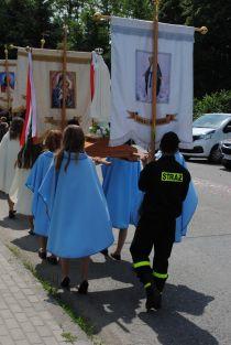 Strażacy w procesji Bożego Ciała